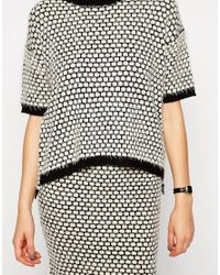 ASOS - Multicolor Co-ord Knitted T-shirt In Spot - Lyst
