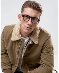 A.J. Morgan - Retro Square Glasses In Black for Men - Lyst