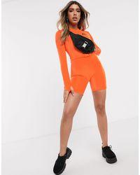 Комбинезон-трико С Длинными Рукавами И Логотипом -оранжевый Sixth June, цвет: Orange
