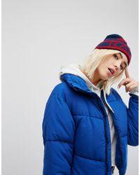 5e06afcd38d8f Bonnet avec inscription Radical Chic Monki en coloris Bleu - Lyst