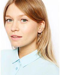 ASOS - Metallic Pack Of 3 Mixed Size Hoop Earrings - Lyst