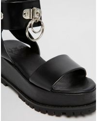 UNIF - Vault Black Two Part Chunky Sandals - Lyst