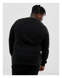 Plus - Sweat-shirt avec motif serpent brodé ASOS pour homme en coloris Black