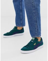 PUMA Suede Classic Sneakers In Green for men