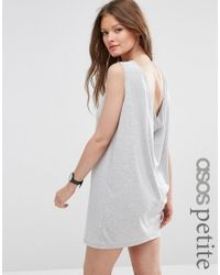 ASOS - Gray Beach Mini Dress With Pom Pom Detail - Lyst