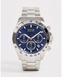 Часы-браслет 1513755 Hero Sport Lux-серебряный BOSS by Hugo Boss для него, цвет: Multicolor