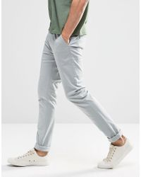 ASOS - Skinny Chinos In Pale Blue for Men - Lyst