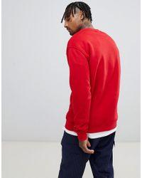 Sweat-shirt oversize classique avec logo drapeau Tommy Hilfiger pour homme en coloris Red
