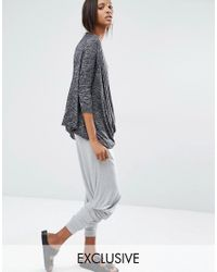 Stitch & Pieces | Gray Relaxed Lounge Cropped Jogger | Lyst