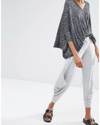 Stitch & Pieces - Gray Relaxed Lounge Cropped Jogger - Lyst