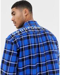 Chemise oversize à carreaux Good For Nothing pour homme en coloris Blue