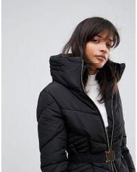 Oasis Black Belted Padded Jacket