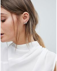 Ted Baker - Metallic Harmone Rose Gold Mini Ornate Bow Stud Earrings - Lyst