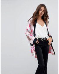 Free People - Pink Ladies Who Lounge Printed Kimono Jacket - Lyst