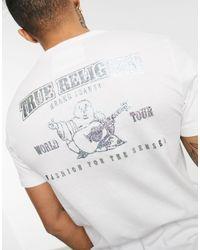 Camiseta blanca con estampado True Religion de hombre de color Multicolor