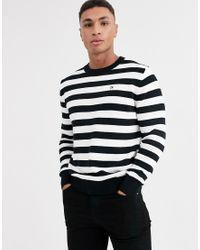 Maglione a righe di Calvin Klein in White da Uomo