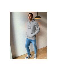 Sudadera con capucha gris sin cierres Essentials Triple Triangle Huf de hombre de color Gray