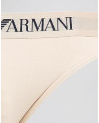 Emporio Armani Natural Microfibre Thong for men