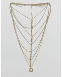 ASOS - Metallic Extreme Multirow Ball Chain Choker Necklace - Lyst