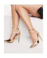 Туфли На Шпильке Цвета Розового Золота С Зеркальным Эффектом -золотистый Glamorous, цвет: Metallic