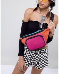 ASOS Multicolor Oversized Colourblock Scuba Bum Bag