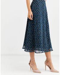 Юбка Миди С Цветочным Принтом -мульти Y.A.S, цвет: Blue