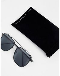 Quay - Quay Square Sunglasses In Black - Lyst