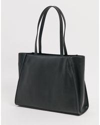 Maxi borsa nera con foulard di Love Moschino in Black