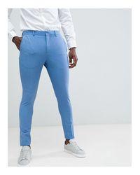 Pantalon SELECTED pour homme en coloris Blue