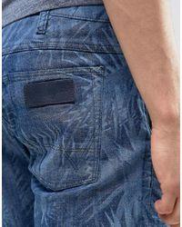 Wrangler - Blue Palm Beach Short for Men - Lyst