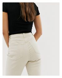 Jeans cropped bianco sporco di New Look in White