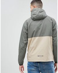 Nicce London Green Nicce Overhead Retro Jacket for men