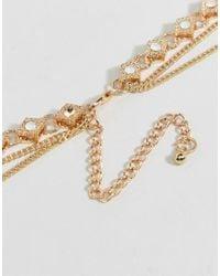 Ashiana | Metallic Multi Layered Necklace | Lyst