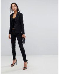 Y.A.S Black Suit Trouser Co-ord