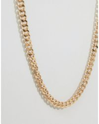 ASOS Metallic Midweight Chain 2 Pack In Gold And Silver for men