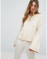 Micha Lounge - Natural Wide Sleeve Sweater - Lyst