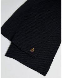 Original Penguin - Black Rib Scarf for Men - Lyst