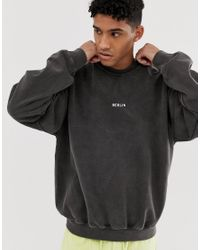 Topman – Berlin – Sweatshirt in Gray für Herren