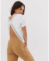 Camiseta con espalda abierta y ribete ASOS de color Multicolor