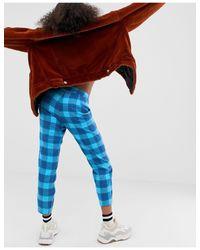 Pantalon écossais Noisy May en coloris Blue