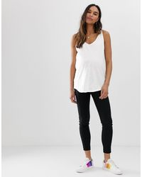 Camiseta sin mangas muy extragrande con tejido ASOS de color White