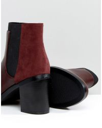 Pimkie Red Heeled Chelsea Boots