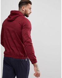 Ellesse Red Overhead Jacket In Burgundy for men