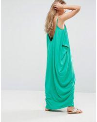 ASOS Green Drape Hareem Maxi Dress