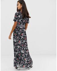 Vestido largo Miss Selfridge de color Black