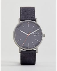 Skagen Gray Skw6452 Signatur Solar Recycled Canvas Watch