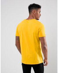 Pull&Bear City Print T-shirt In Yellow for men