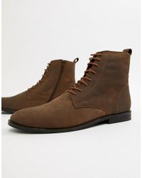 KG by Kurt Geiger Brown Kg By Kurt Geiger Leather Lace Up Boots for men