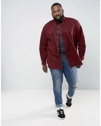 Polo Ralph Lauren - Red Plus Poplin Shirt In Burgundy for Men - Lyst
