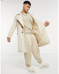 Sixth June Natural Classic Over Size Trench Coat for men